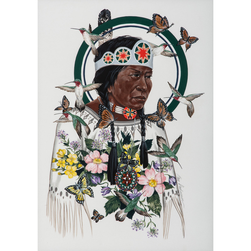Troy Anderson (Cherokee, b. 1948) Gouache on Paper