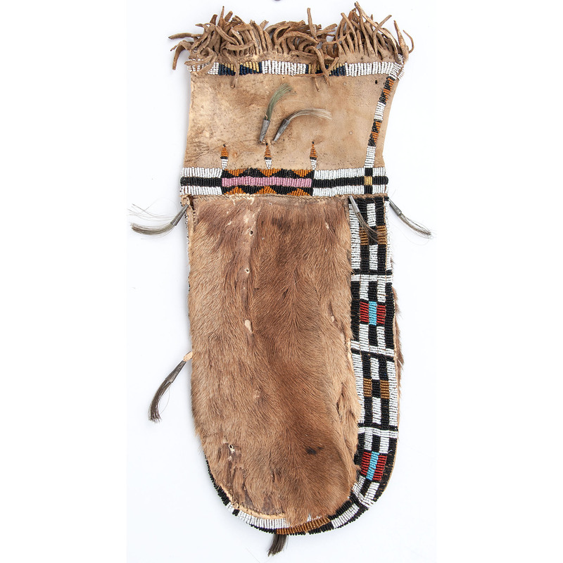 Cheyenne Beaded Bag, with Deer Hide, From the Stanley B. Slocum Collection, Minnesota
