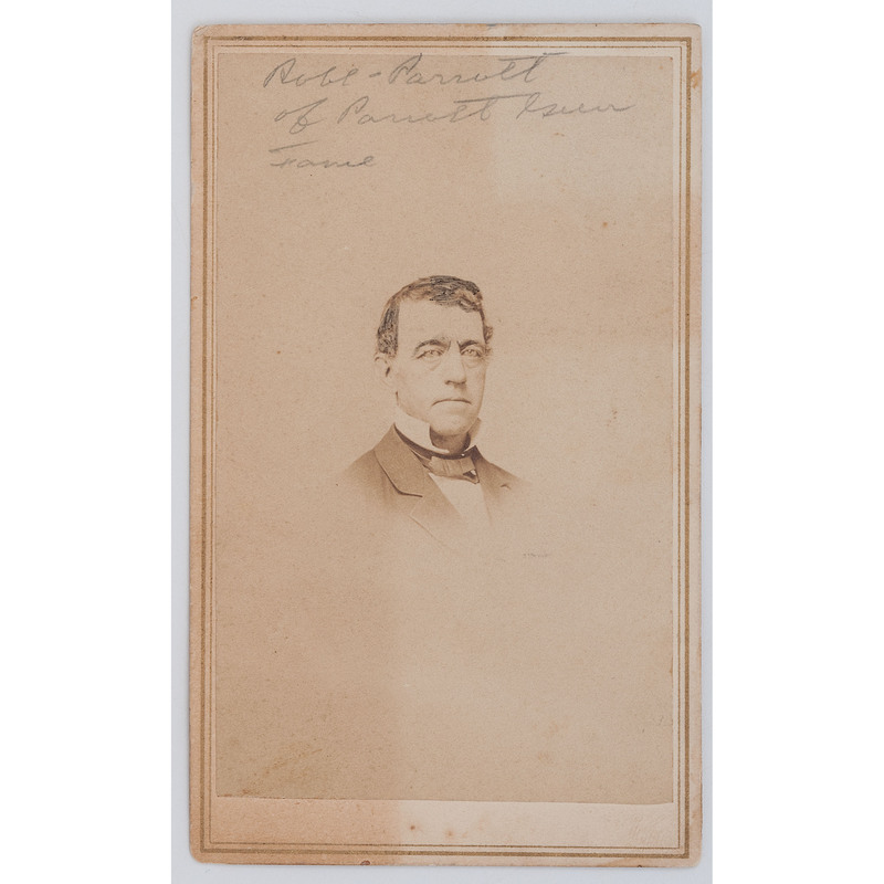 CDV of Robert Parrott, Inventor of the Parrott Rifle, by F. Wheeler, Cold Spring, NY