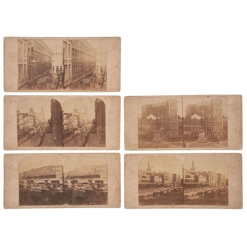 Thomas Bailey, Rare and Early New Orleans Stereoviews, November 1860