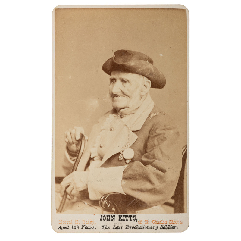 CDV of Last Surviving Revolutionary War Soldier, John Kitts