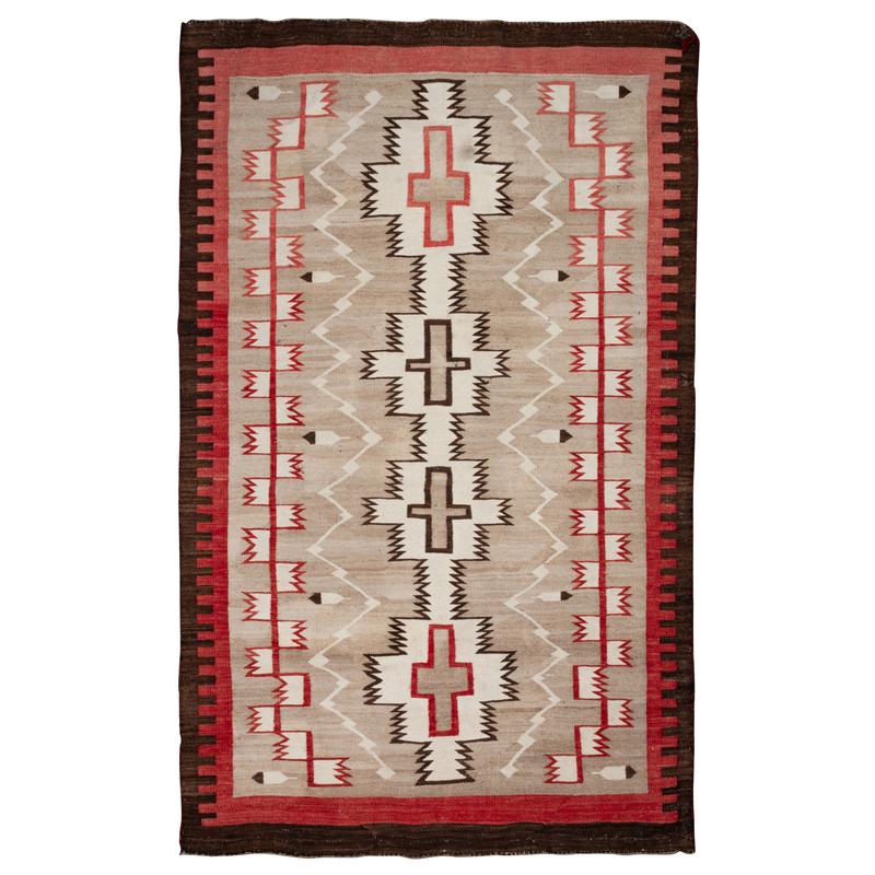 (Denver) Navajo Regional Weaving / Rug, with Feathers