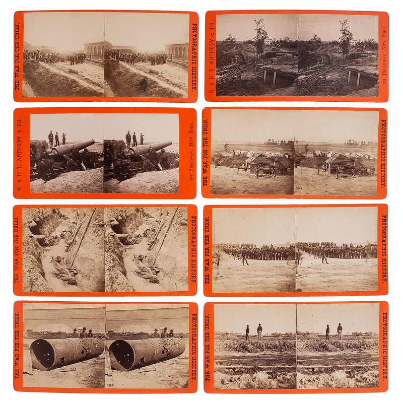 E. & H.T. Anthony, Civil War Stereoviews Featuring Rebel Casualties, Prisoners, Artillery, and Fortifications