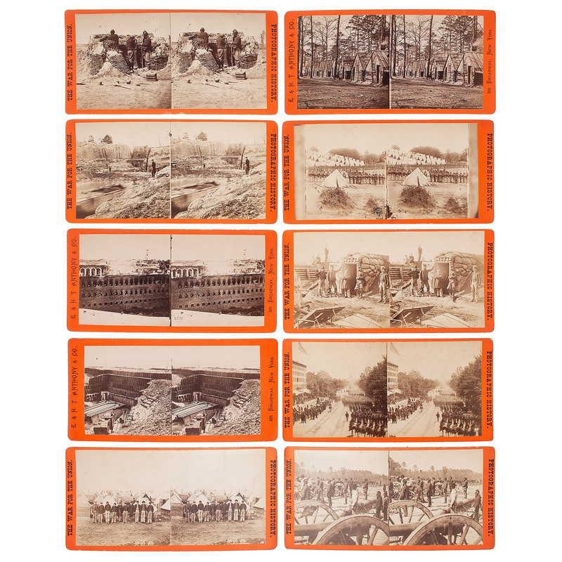 E. & H.T. Anthony, Stereoviews Featuring Union Soldiers, Artillery, Fortifications, and Camps