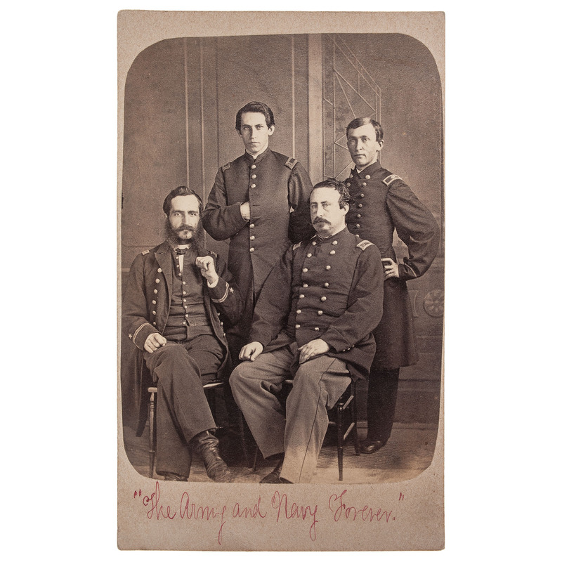 Naval Subjects, Incl. CDV of Army and Navy Officers Posed Together by Lytle, Baton Rouge