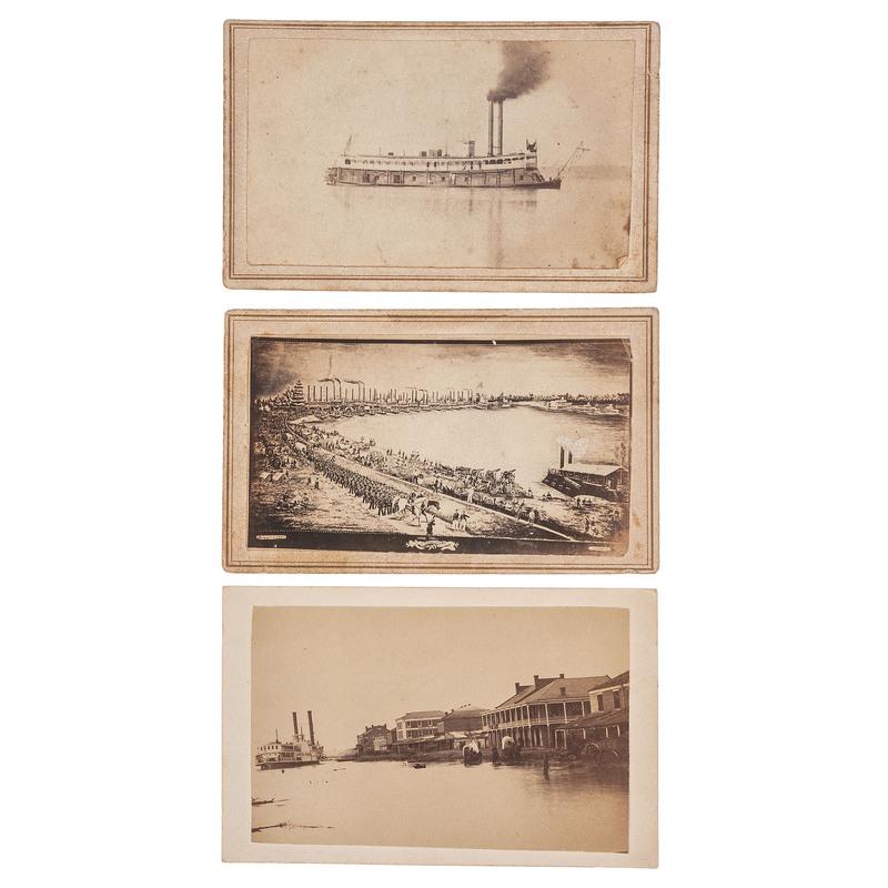 CDV of Baton Rouge Landing, Incl. View of the Steamer Empire Parish, Plus