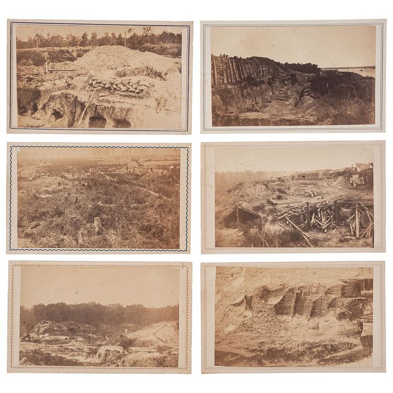 Rebel Citadel and Line of Works at Port Hudson, CDVS by McPherson & Oliver