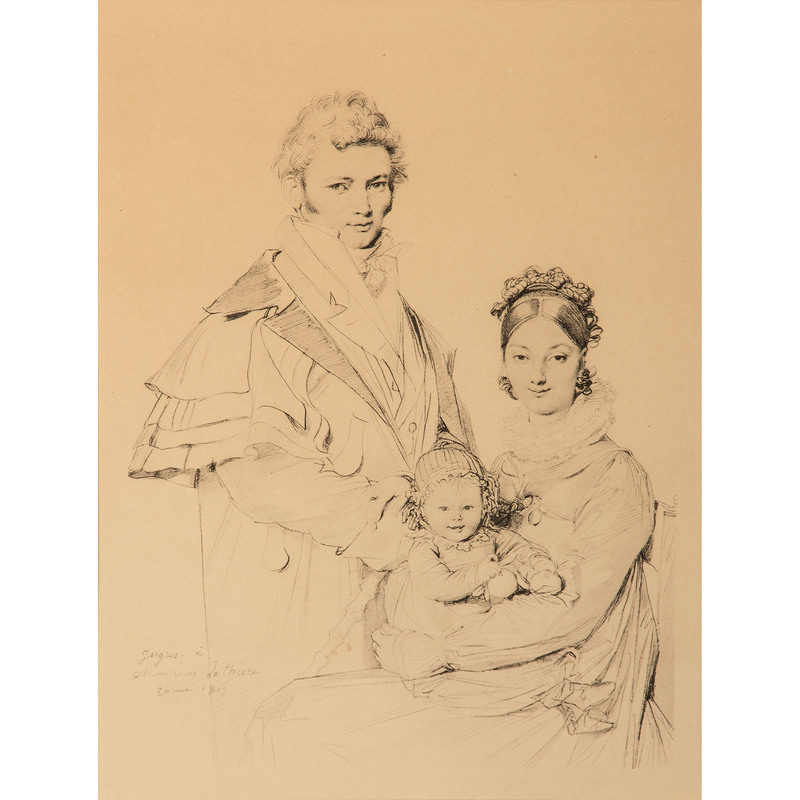 After Ingres, A Portrait of the Lethiere Family