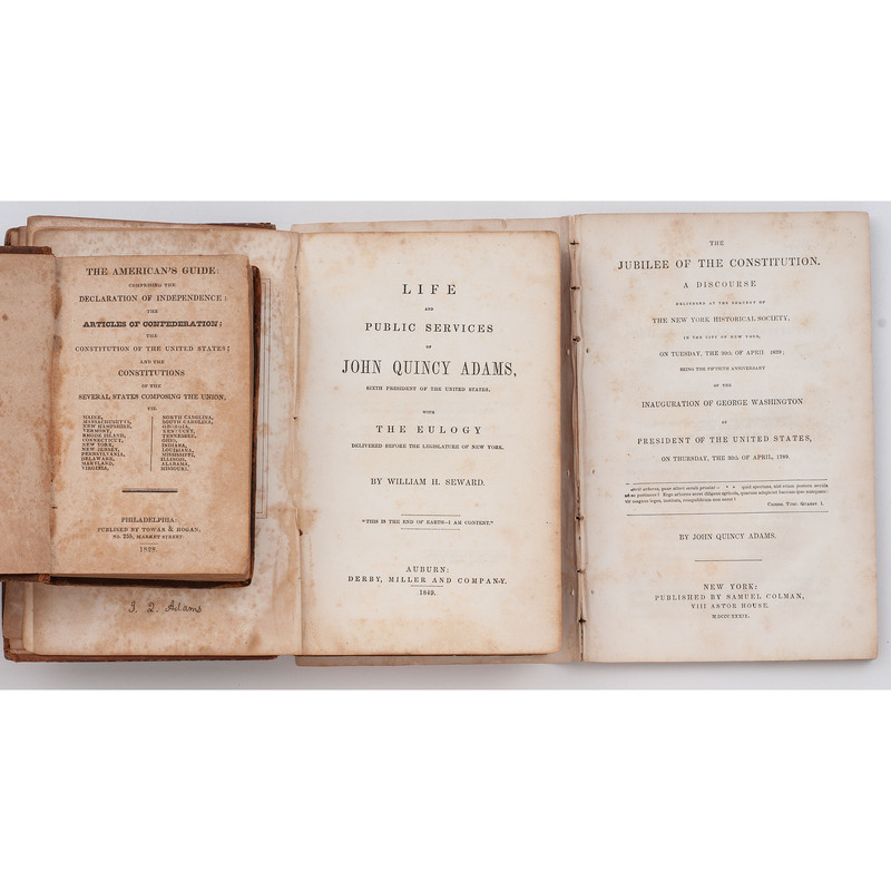 [ADAMS, John Quincy -- ABOLITION] SEWARD, William H. Life and Public Services of John Quincy Adams. Auburn, [NY]: Derby, Miller and Company, 1849.
