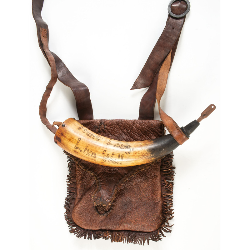 Hunting Bag & Powder Horn Set by Jeff Luke, Sold to Benefit the Contemporary Longrifle Foundation