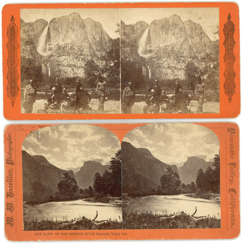 P.T. BARNUM PARTY AT YOSEMITE & MERCED RIVER STEREOVIEW