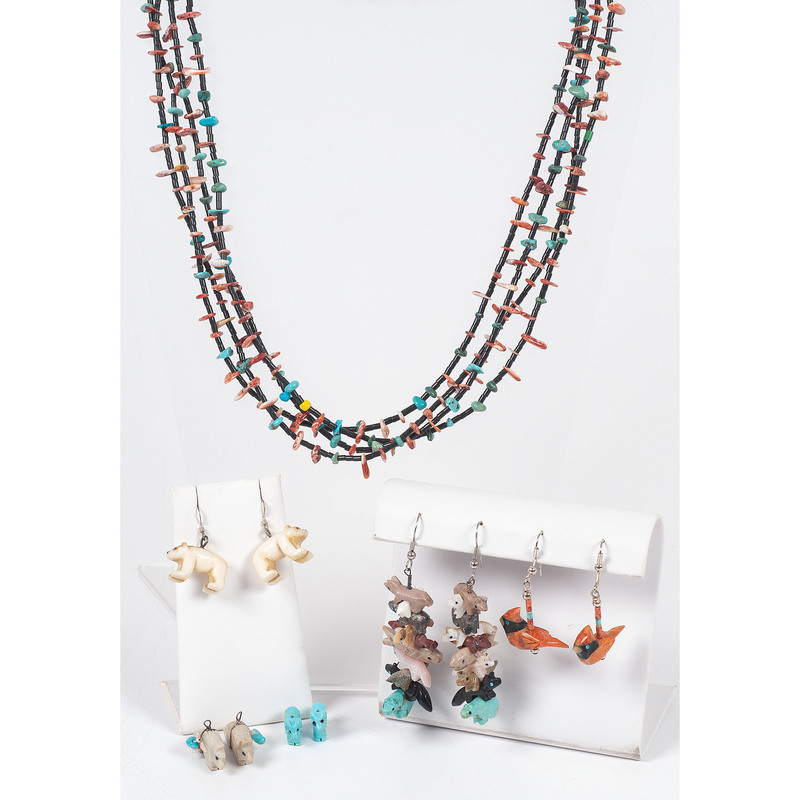 (Cincinnati) Fetish Necklace and Earrings, Plus