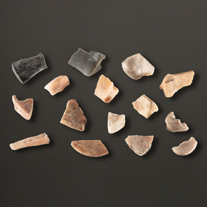An Assortment of Quartz Bannerstone Fragments, Largest 1-3/4 in.