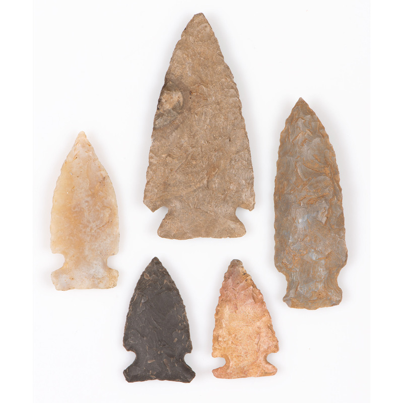 Five Archaic Points, Largest 2-7/8 in.