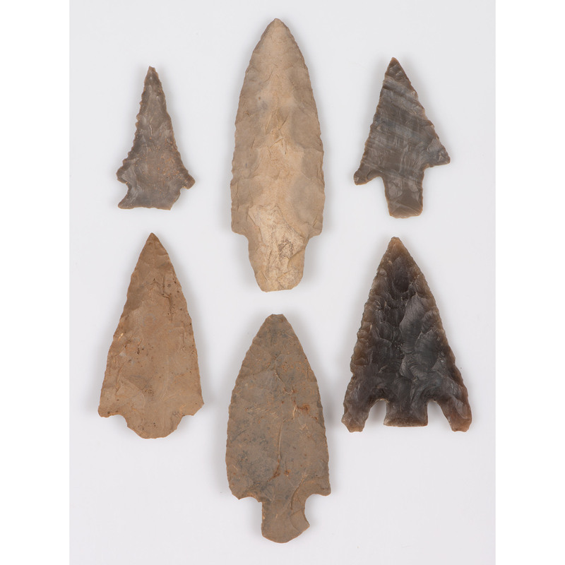 An Assortment of Flint Points, Largest 3-3/4 in.