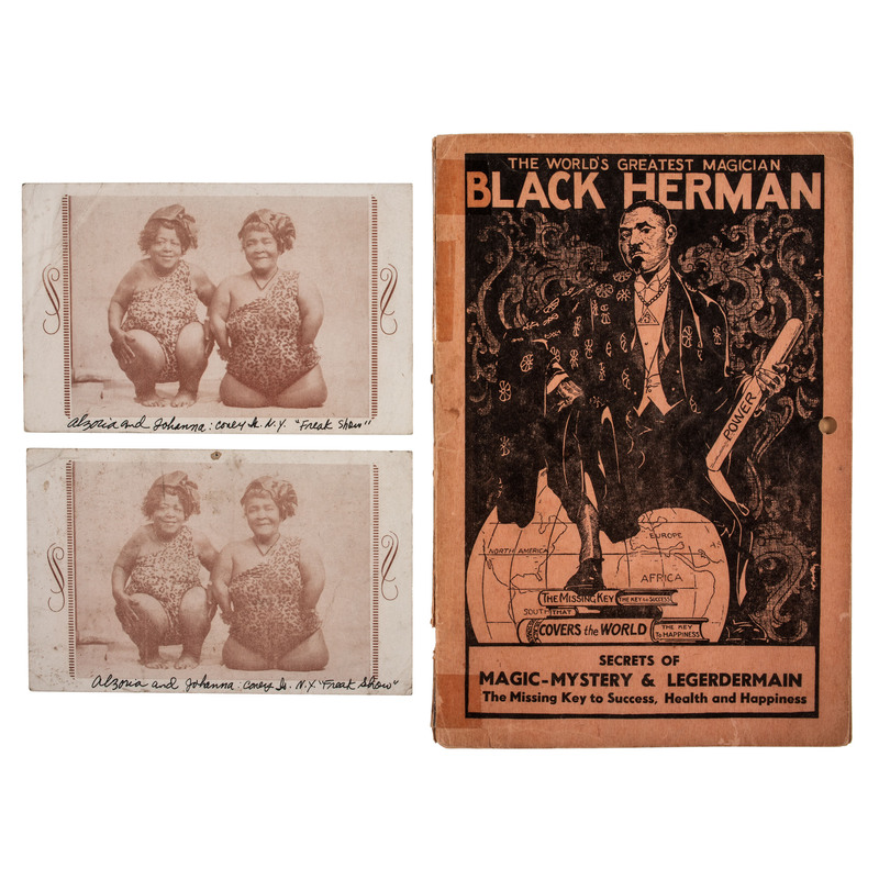 [ENTERTAINMENT -- MAGIC]. RUCKER, Benjamin (1889-1934). Black Herman's Secrets of Magic-Mystery & Legerdermain [sic]. New York: Empire Publishing Co., [ca 1938].