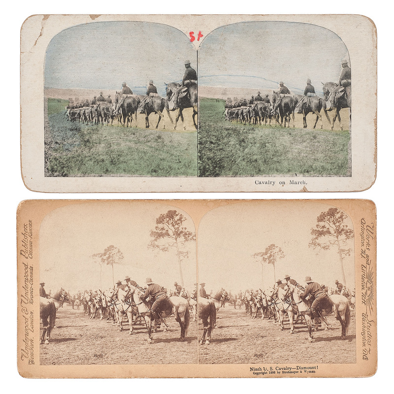 [BUFFALO SOLDIERS]. 9th Cavalry stereoviews.