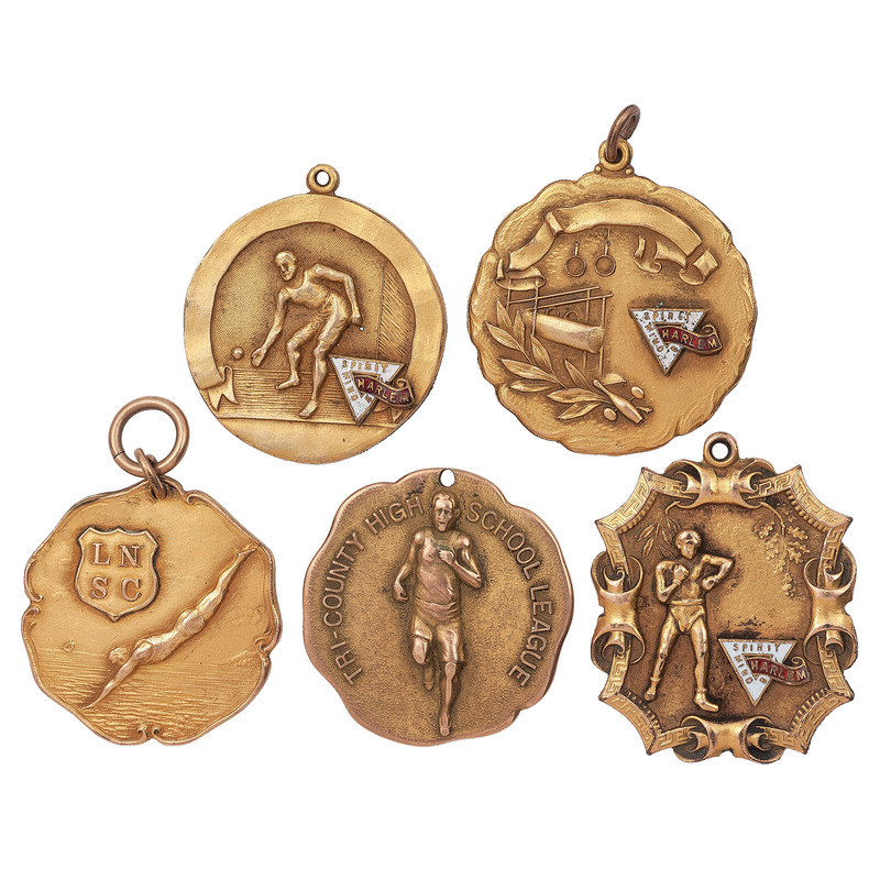 [SPORTS]. A group of sports medals from Harlem, comprising: