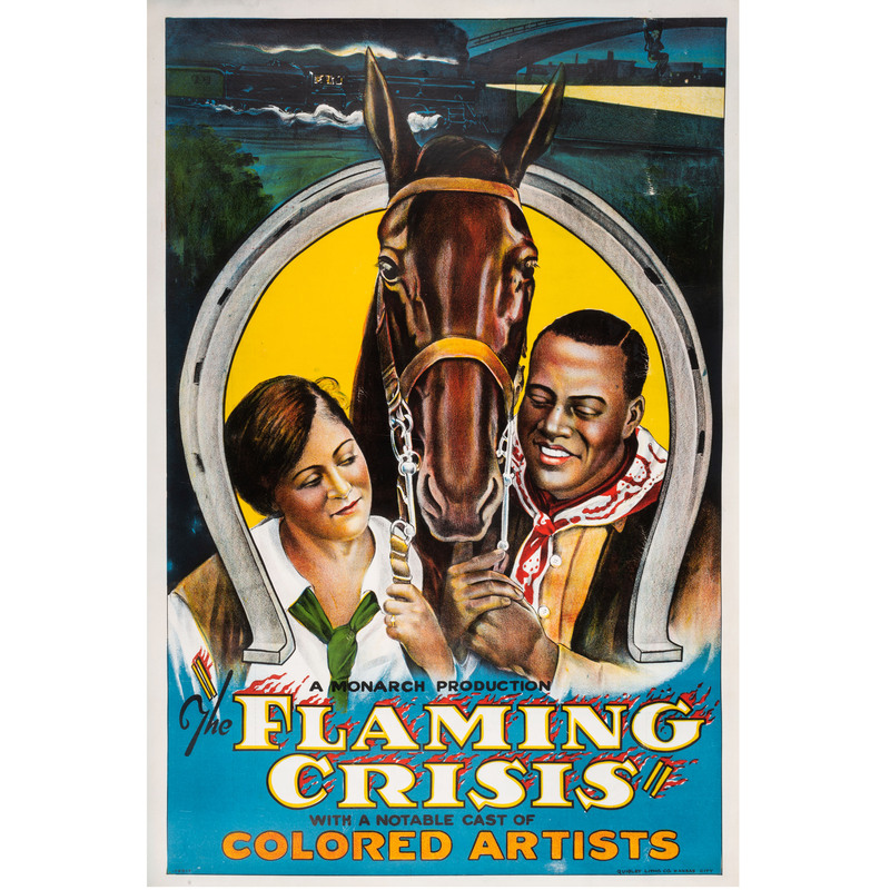 [FILM]. The Flaming Crisis with a Notable Colored Cast. Kansas City, MO: Quigley Litho. Co., [1924].