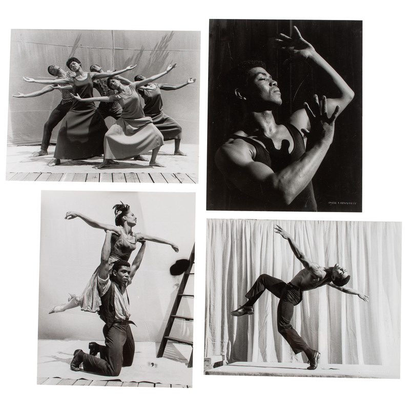 [DANCE] -- [AILEY, Alvin (1931-1989)]. LINDQUIST, John, photographer. A group 54 photographs of African American performers and dance pieces, including: