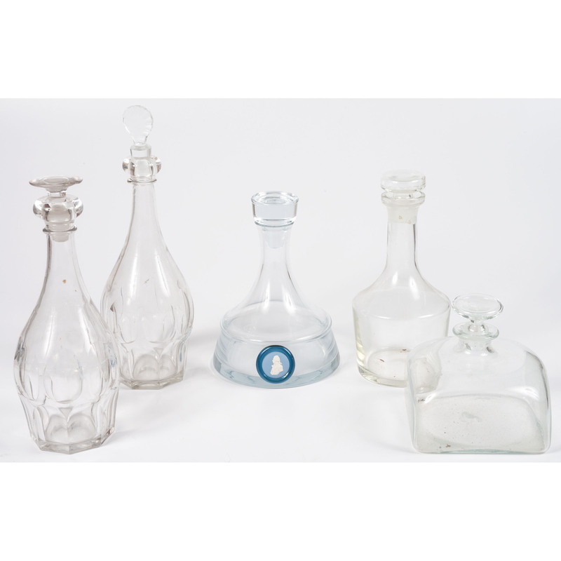 Five Glass Decanters