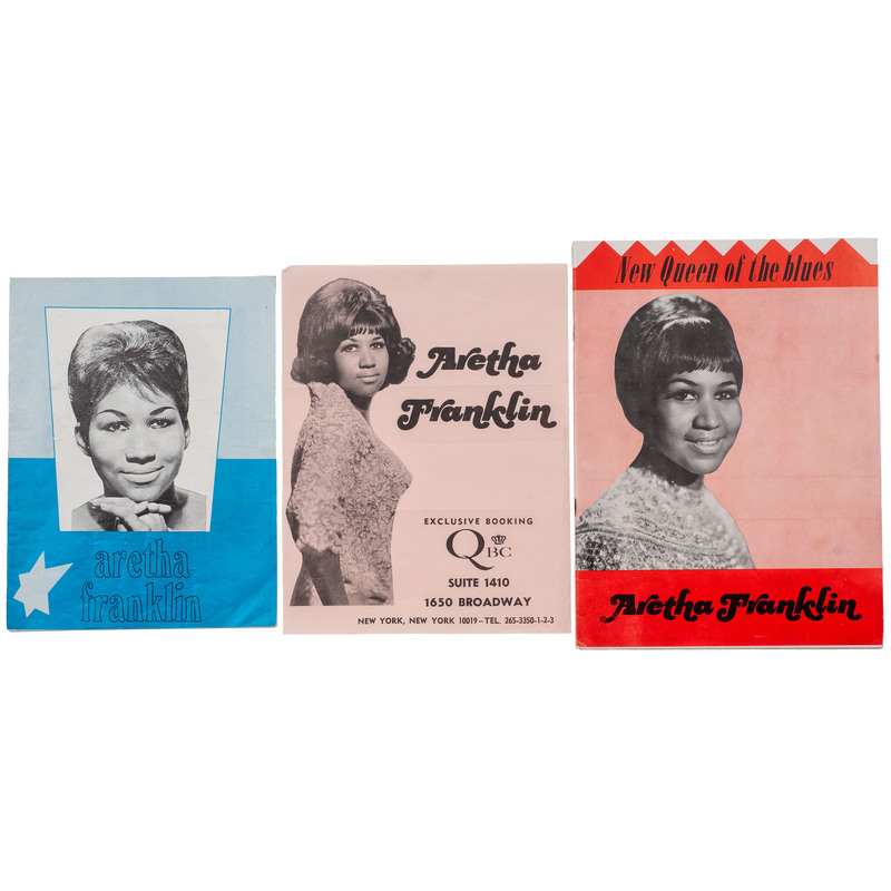[MUSIC] -- [FRANKLIN, Aretha, Harry BELAFONTE, James BROWN, Wilson PICKETT, The TEMPTATIONS]. Group of 9 programs, comprising: