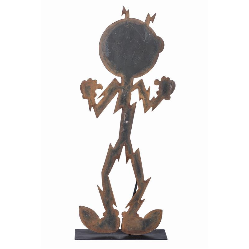 A Reddy Kilowatt Iron Figure