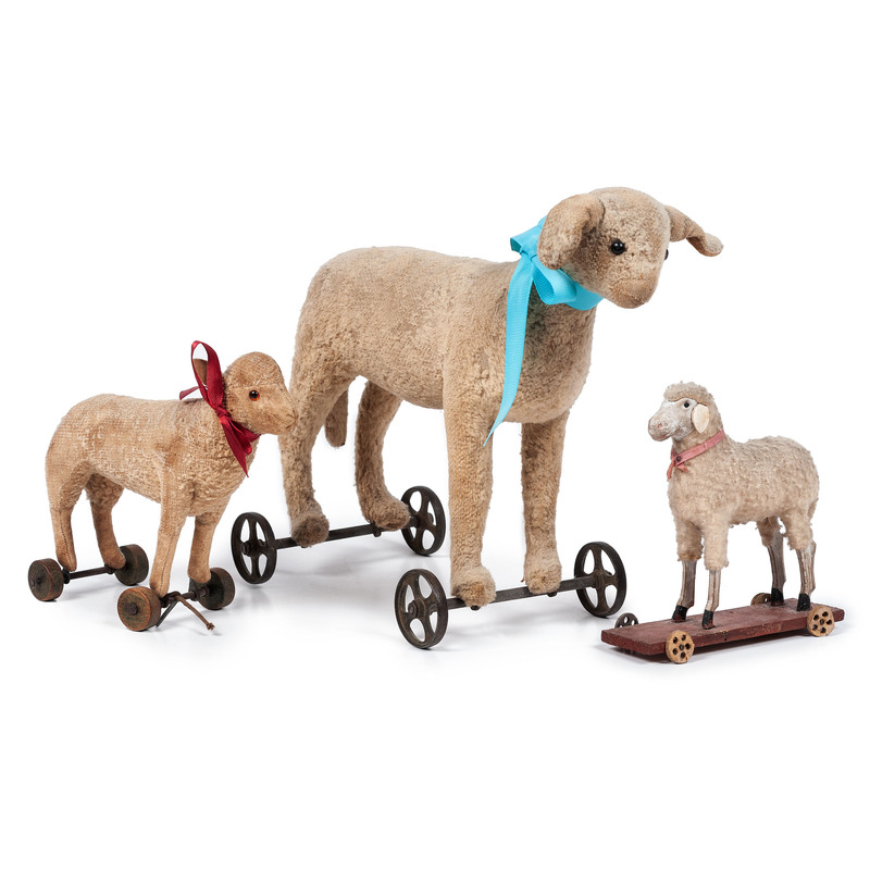 Three Sheep Pull Toys