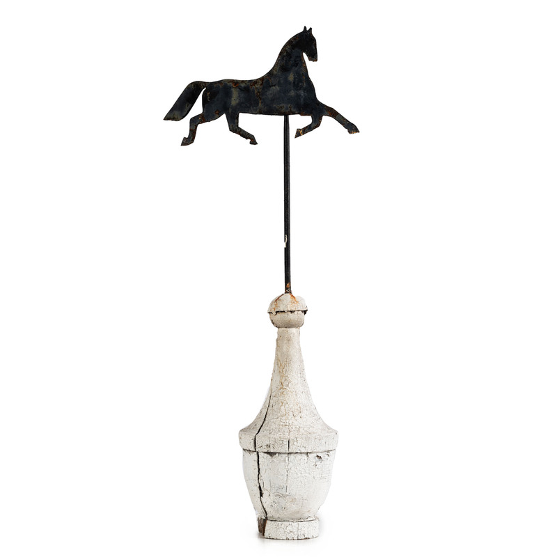 A Horse Weathervane on Stand