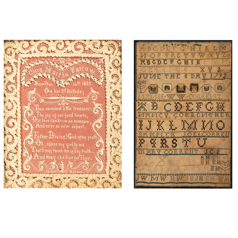An Embroidered Alphabet Sampler and Birth Commemoration