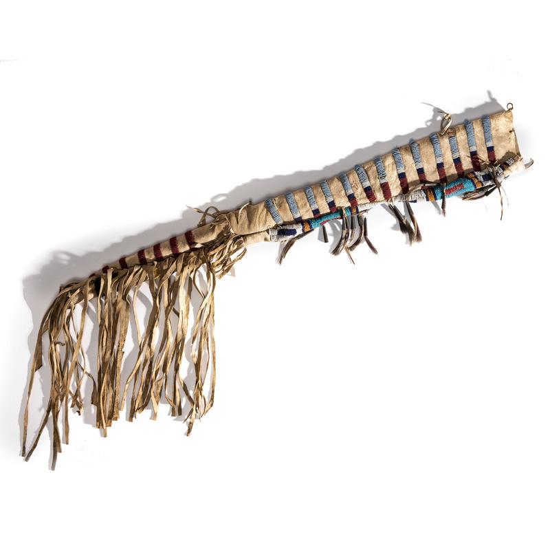 Cheyenne Beaded Hide Rifle Scabbard