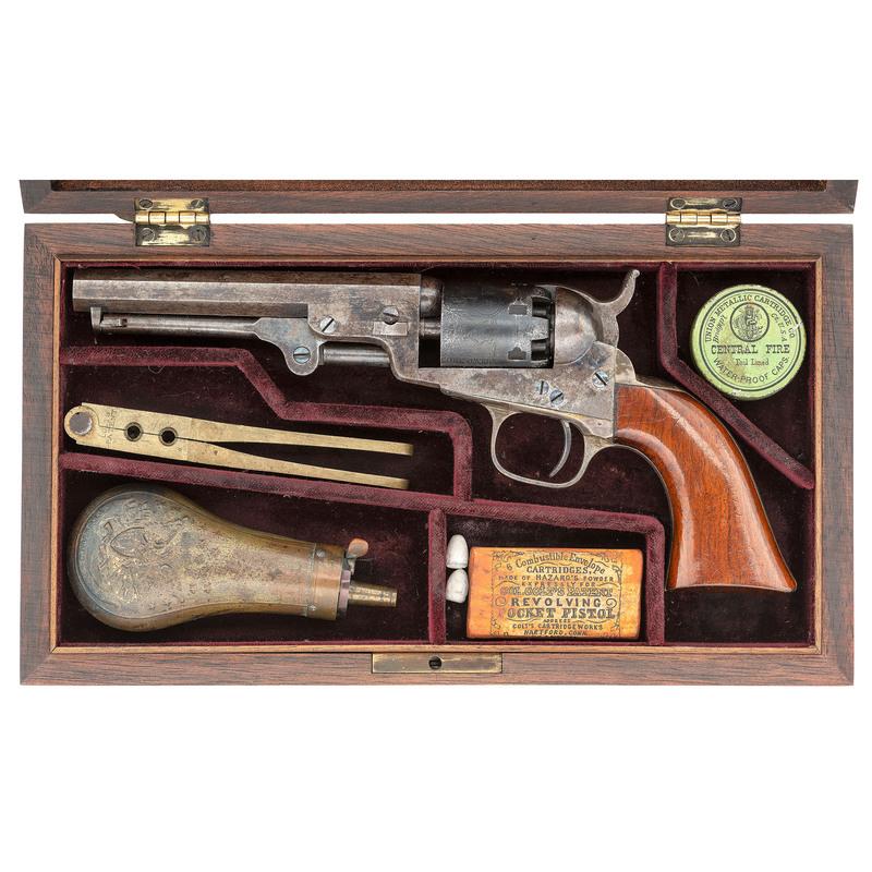 Hartford Address Colt Model 1849 Pocket Revolver in Contemporary Case