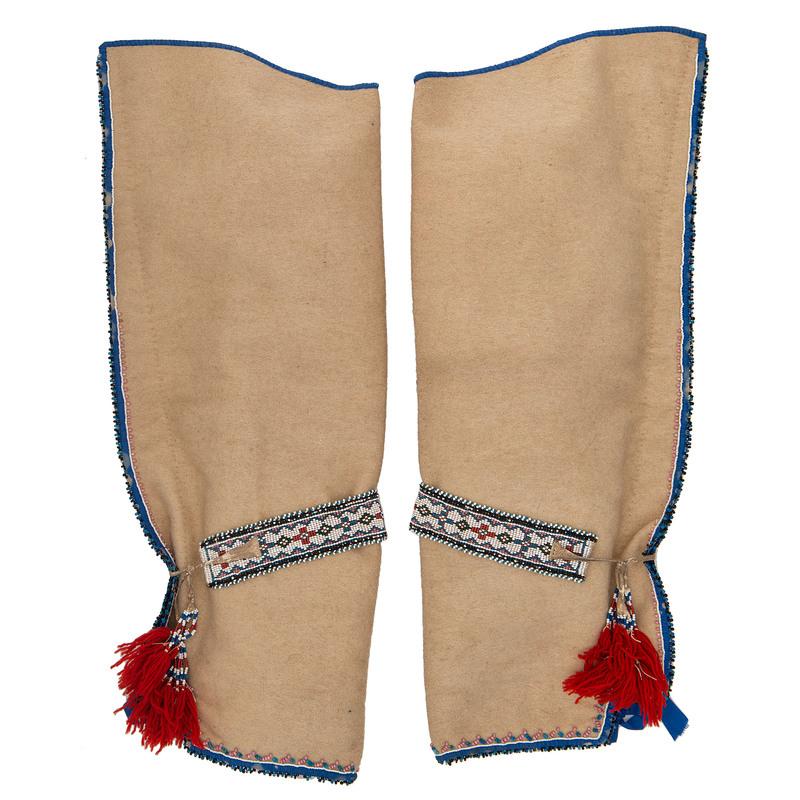 Cree Beaded Wool Leggings