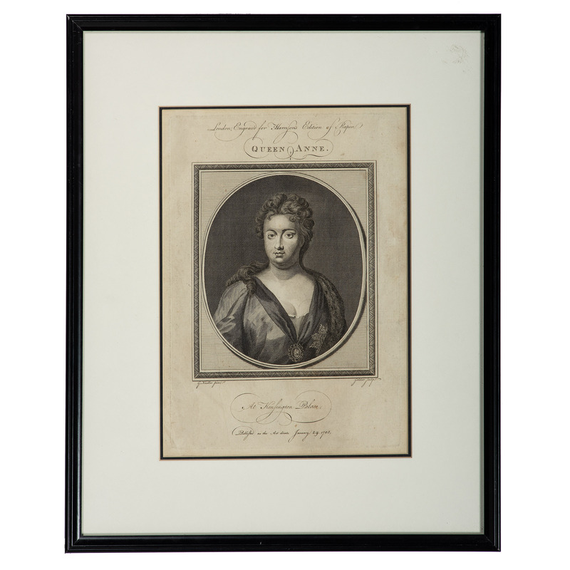 Two English Engravings, Queen Anne and King Henry VIII