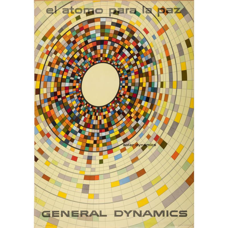[FINE ART]. NITSCHE, Erik (Swiss, 1908-1998). El Atomo para la Paz / Solor Dynamics / General Dynamics. Lausanne, Switzerland: R. Marsens, 1955.