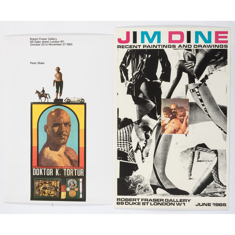 [FINE ART] -- [DINE, Jim (American, b. 1935) and Peter BLAKE (English, b. 1932)]. A group of 2 exhibition posters, comprising: