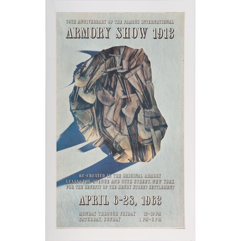 [FINE ART] -- [DUCHAMP, Marcel (French, 1887-1968)]. 50th Anniversary of the Famous International Armory Show 1913 Re-created in the Original Armory / Lexington Avenue & 25th Street, New York / For the Benefit of the Henry Street Settlement. 1963.