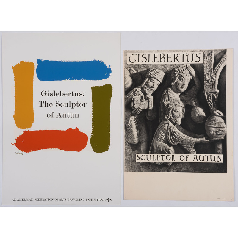 [FINE ART] -- [GISLEBERTUS, (French, active early 12 century)]. A group of 2 exhibition posters, comprising:
