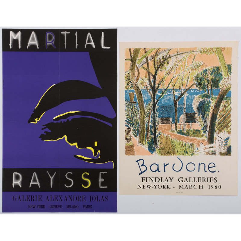[FINE ART] -- [BARDONE, Guy and Martial RAYSSE]. A group of 2 exhibition posters, comprising: