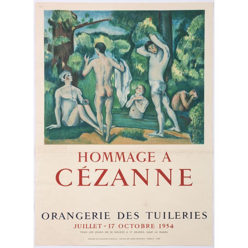 [FINE ART] -- [CEZANNE, Paul (French, 1839–1906)]. Hommage a Cézanne / Orangerie des Tuileries / 1954. Paris: Mourlot, 1954.