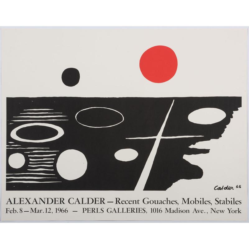 [FINE ART] -- [CALDER, Alexander (American, 1898–1976)]. Alexander Calder Recent Gouaches, Mobiles, Stabiles / Perls Galleries 1966. 1966.