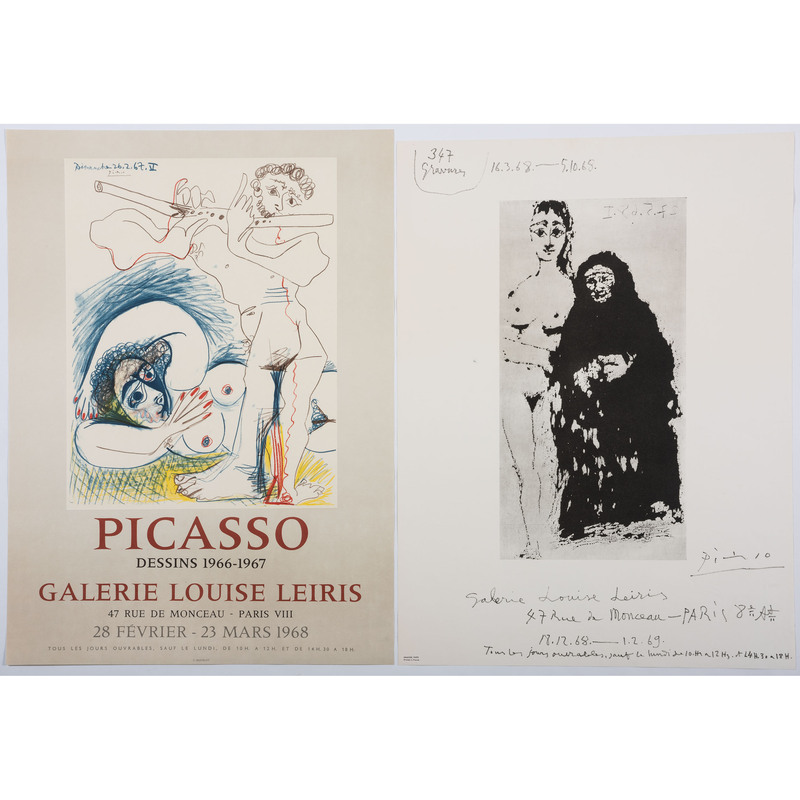 [FINE ART] -- [PICASSO, Pablo (Spanish, 1881-1973)]. A group of 2 exhibition posters, comprising: