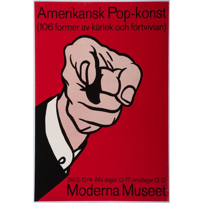 [FINE ART] -- [LICHTENSTEIN, Roy. (American, 1923-1997)]. Amerikansk Pop-konst / (106 former av kärlek och fortvivlan) / Moderna Museet. Sweden: 1964.