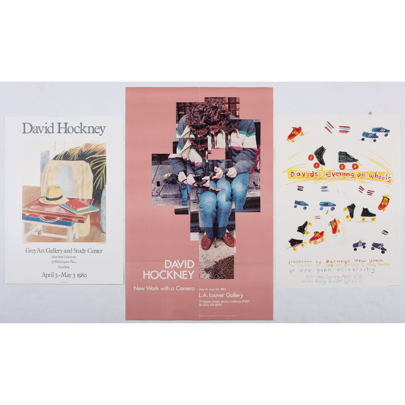 [FINE ART] -- [HOCKNEY, David (English, b. 1937)]. A group of 3 exhibition posters, comprising: