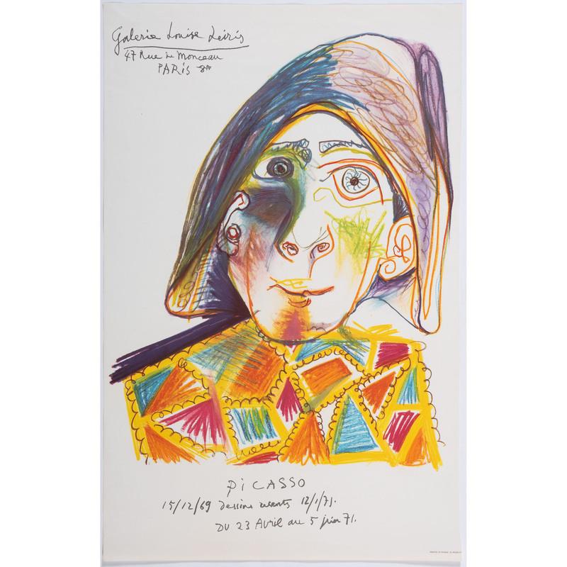[FINE ART] -- [PICASSO, Pablo (Spanish, 1881-1973)]. Galerie Louise Leiris / Picasso / Dessins recents 12/1/71. France: Mourlot, 1971.