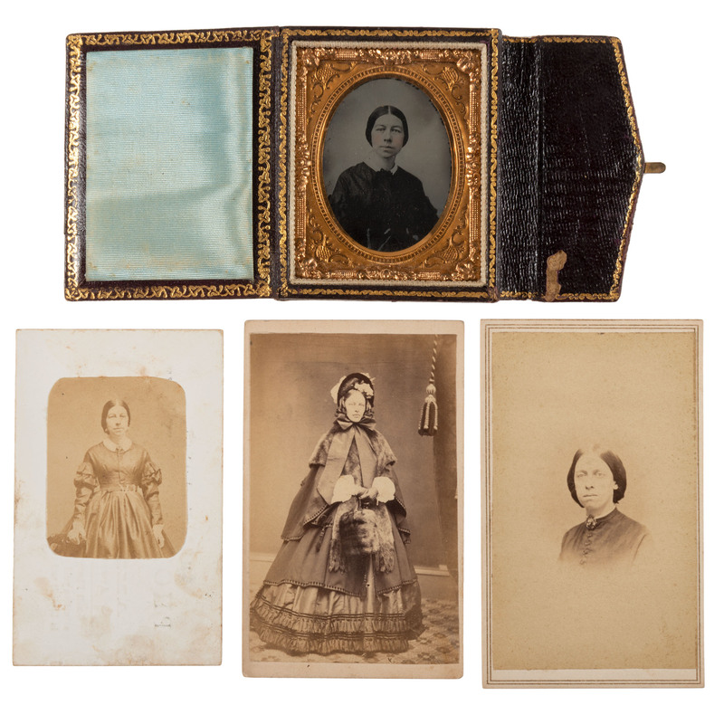 [EARLY PHOTOGRAPHY - WOMEN]. A small archive of photographs and ephemera related to Connecticut photographer, Mrs. H. Royce, comprising: