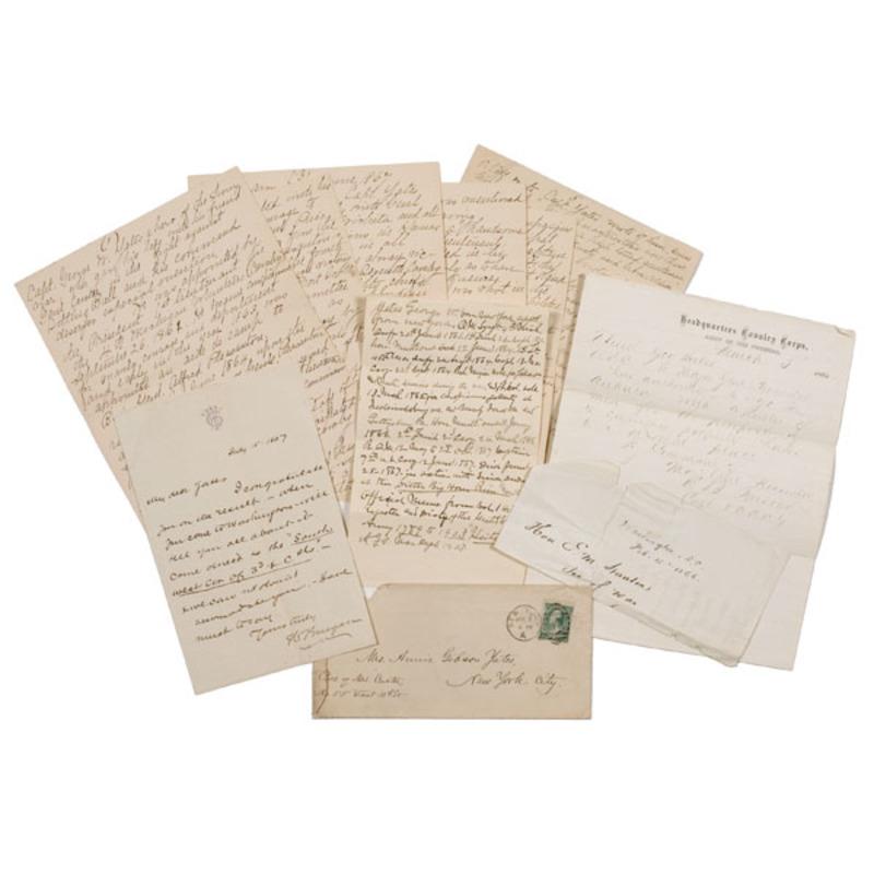 Elizabeth Custer Manuscript Relating to Captain George Yates, 7th Cavalry,