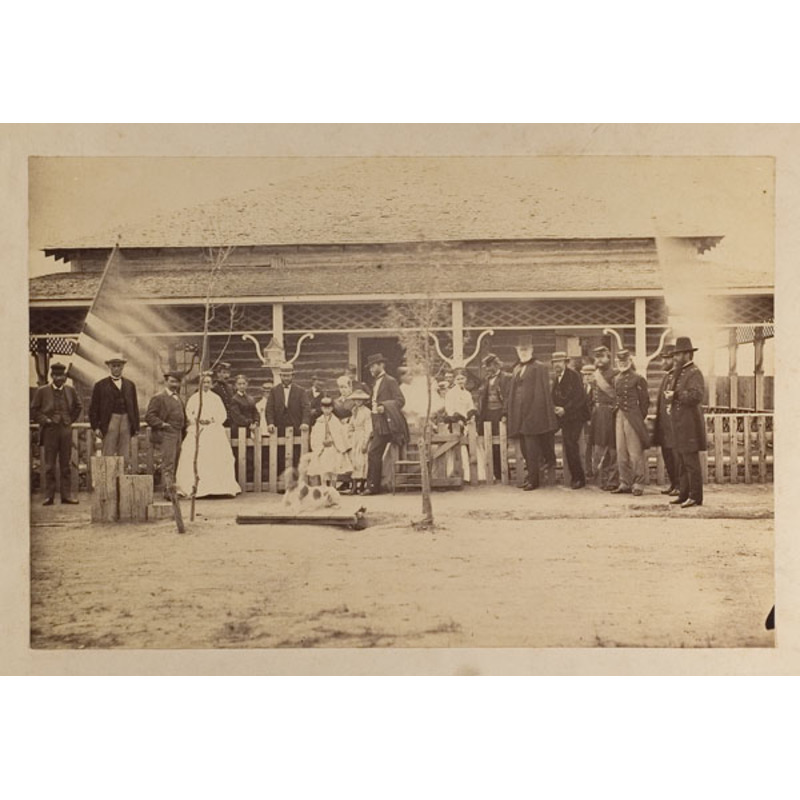 A.J. Russell  Photograph of Grant, Sherman & Company at Ft. Sanders, WY,