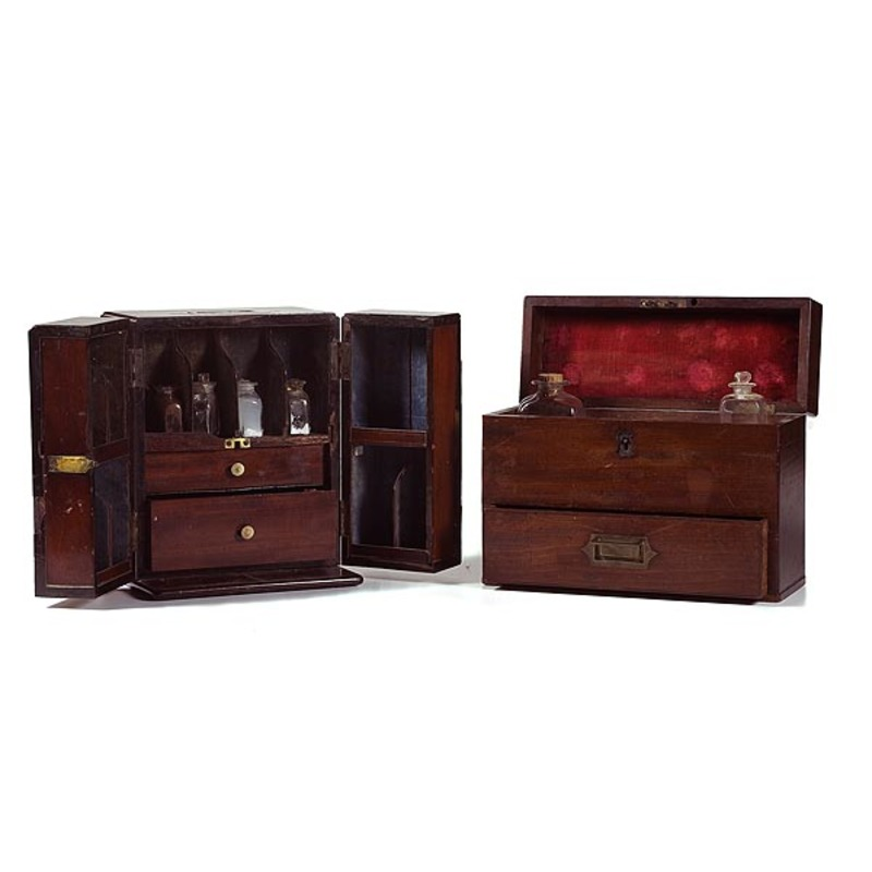 Two Early 19th Century Boxed Surgeon's Kits,