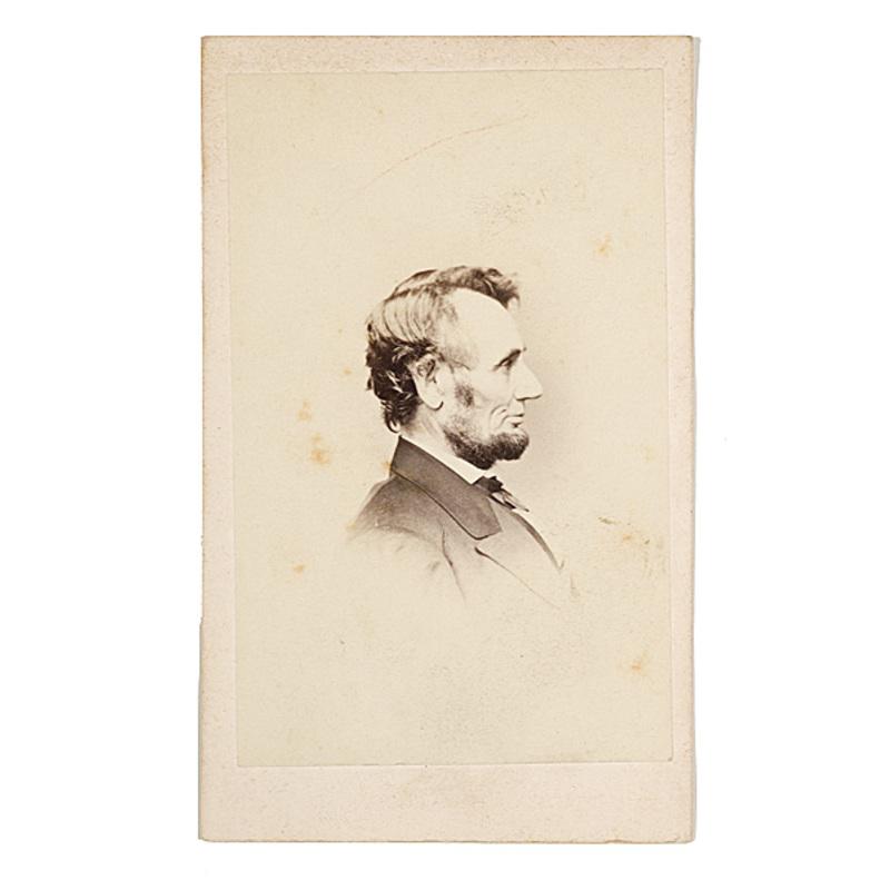Brady CDV of Lincoln In Profile,